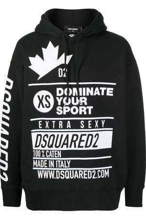 Dsquared2 Multi-logo print hoodie