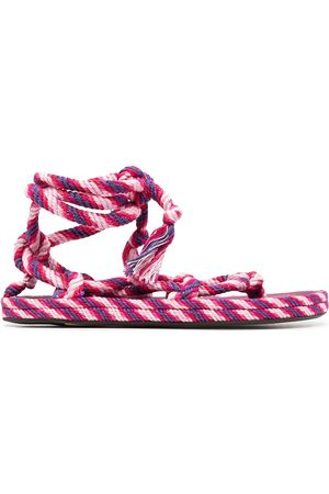 Isabel Marant Two-tone woven-effect sandals