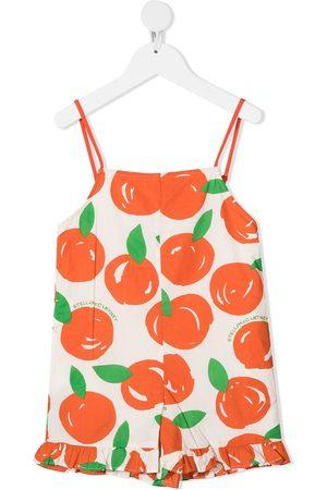 Stella McCartney Jumpsuit corto con motivo de naranjas