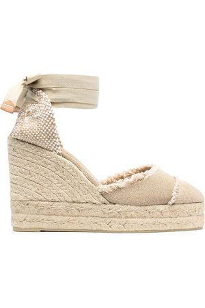 Castaner Wedge-heeled espadrille with ankle ties