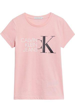 Calvin Klein Niña Playeras - Hybrid Logo Slim