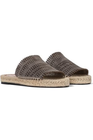 Alaïa Mujer Planas - Laser-cut leather espadrille sandals
