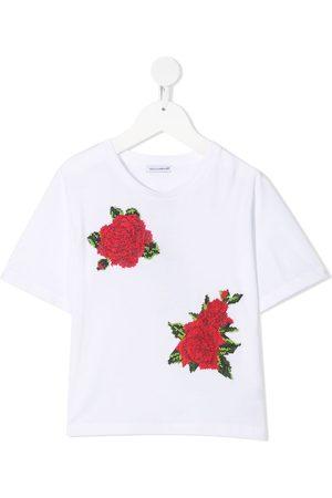 Dolce & Gabbana Camiseta con bordado floral