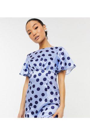 Chi Chi London Spot mini dress in blue