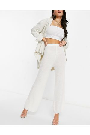 I saw it first Knitted trousers in cream
