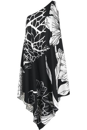 Roberto Cavalli Vestido drapeado con estampado floral