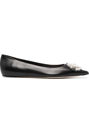 Alexander McQueen Mujer Flats - Zapatillas con detalles de cuentas