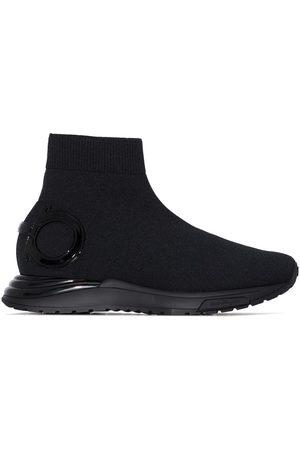 Salvatore Ferragamo Black slip-on sneakers