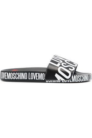 Love Moschino Sandalias con logo estampado