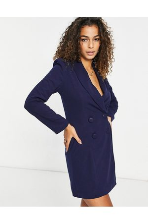 Club L Double breasted mini blazer dress in navy