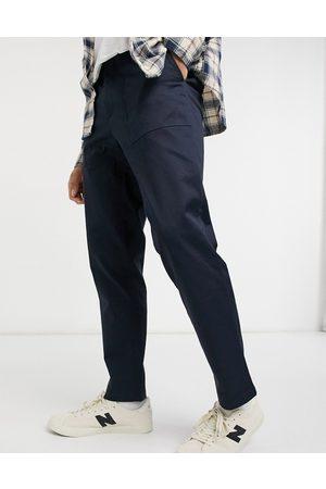Burton Slim carpenter trousers in navy