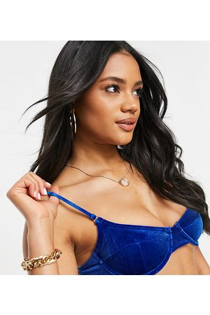 South Beach Mix and match monowire bikini top in cobalt blue velvet
