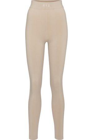 RTA Sibille high-rise stretch-cotton leggings