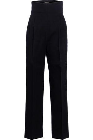 Alaïa Mujer Pantalones y Leggings - High-rise cotton gabardine pants