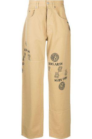 ARIES Jeans rectos con logo gráfico estampado