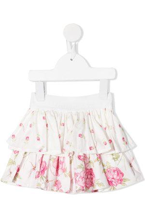 MONNALISA Falda con volantes y estampado floral