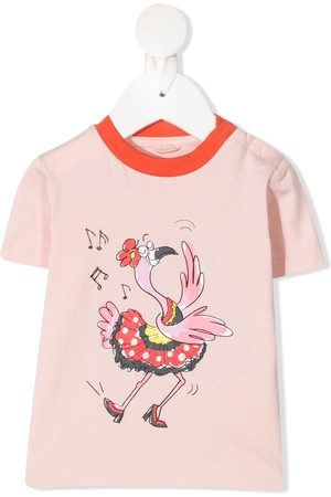 Stella McCartney Camiseta con estampado Dancing Bird