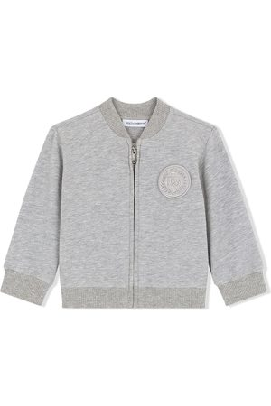 Dolce & Gabbana Logo-patch zip-up sweatshirt