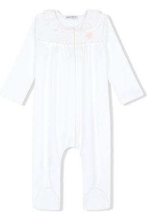 Dolce & Gabbana DG-embroidered jersey and poplin pajamas
