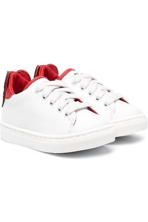 Moschino Leather lace-up trainers