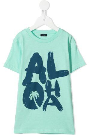 Il gufo Aloha-print T-shirt
