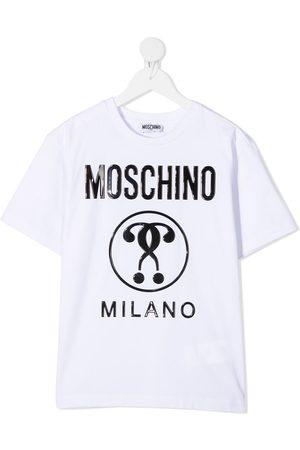 Moschino Playera con logo en relieve