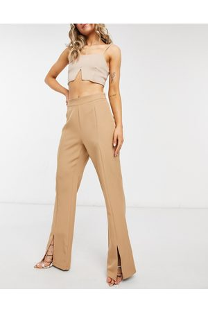 Outrageous Fortune Split front trouser in camel co ord