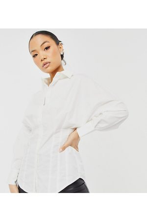 Y.A.S Shirt with pleated synched in waist in white