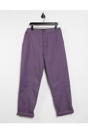 ASOS Relaxed skater chinos in mauve
