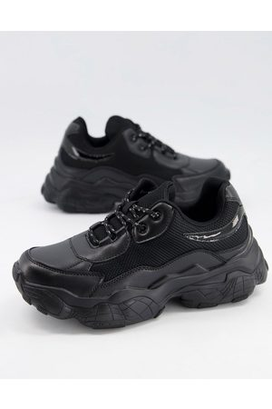 Public Desire Furious chunky trainers in black