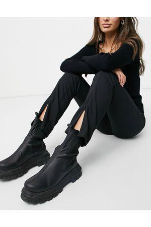 Vero Moda Zip front trousers in black