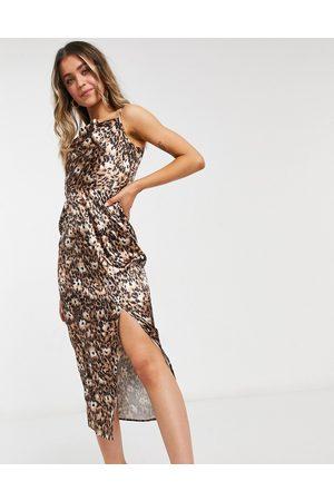 Chi Chi London Animal slip dress in animal print