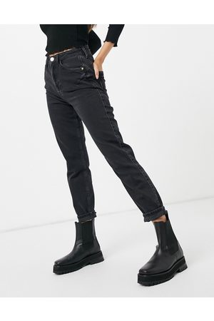 River Island Carrie comfort sculpt mom jeans in black