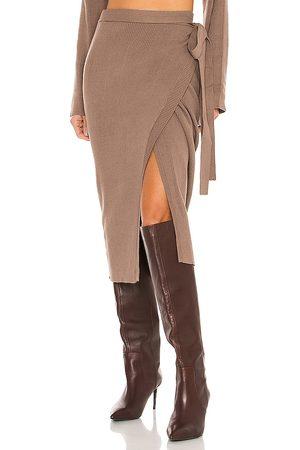 SNDYS Falda cece en color marrón talla L en - Brown. Talla L (también en M, S, XS).