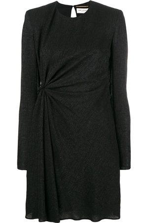 Saint Laurent Mujer Vestidos - Vestido de purpurina fruncido