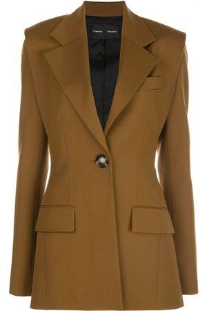Proenza Schouler Mujer Sacos - Blazer con botón y hombros exagerados