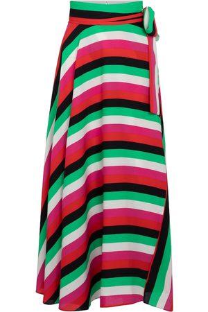 Diane von Furstenberg Carson striped silk crêpe de chine midi skirt