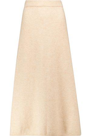 Nanushka Razi wool-blend midi skirt