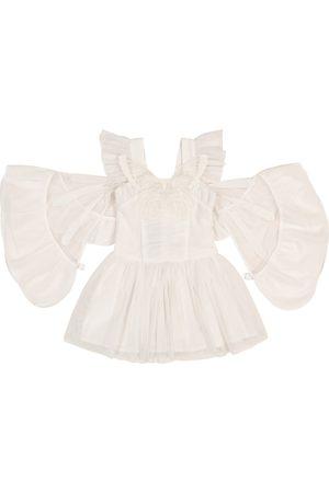 Stella McCartney Niña Cortos - Appliquéd tulle dress