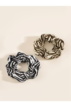 YOINS 1pc Casual Zebra Pattern Scrunchie