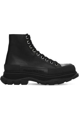 Alexander McQueen Sneakers Tipo Botas De Piel Con Cordones