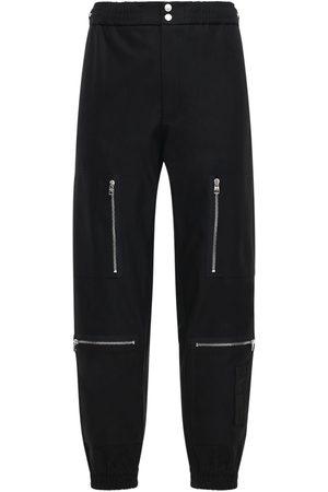 Alexander McQueen Hombre Gabardinas - Pantalones De Gabardina De Algodón Con Bolsillos