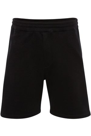 Alexander McQueen Pantalones Cortos De Algodón Con Cinta Con Logo