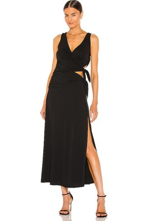 LPA Vestido raina en color talla L en - Black. Talla L (también en M, S, XL, XS, XXS).