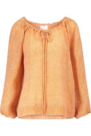 Lisa Marie Fernandez Mujer Midi - Wrap linen-blend midi skirt
