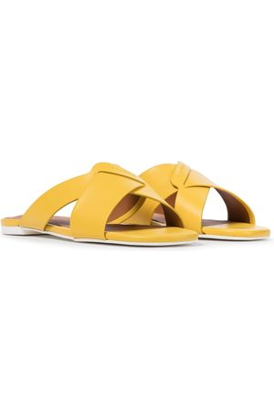 Robert Clergerie Issy leather slides