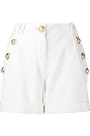 Balmain Mujer Shorts - Shorts con botones en relieve