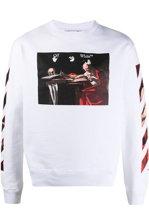 OFF-WHITE Hombre Sudaderas - Graphic-print round neck sweatshirt