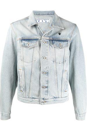 OFF-WHITE Bleach-wash denim jacket