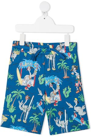 Stella McCartney Niño Bermudas - Shorts con estampado Flamingo Land